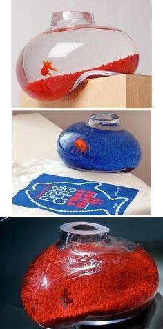 Bubble-shaped fish tank design