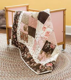 When time is short you can start and finish this darling little quilt in one day.
