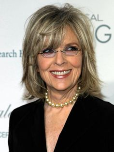 Diane Keeton looking amazing in a short cut with a bangs!