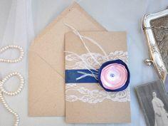 Einladungskarten - Einladungskarte Hochzeit - ein Designerstück von KubisDesign bei DaWanda