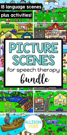 Use these popular language scenes to target many speech and language goals! You will save money by purchasing my GROWING BUNDLE, which includes 17 different language scenes so far, PLUS you will get NEW ones as I add them for NO ADDITIONAL COST! You can print these out or open on a device for a NO PREP, NO PRINT option. These are perfect for speech therapy or teletherapy with kids in kindergarten, 1st, 2nd, & 3rd grade. Pronoun Activities, Speech Therapy Activities, Nouns And Pronouns, Multiple Meaning Words, Writing Pictures, Teaching English Grammar, Wh Questions, Early Intervention, How To Gain Confidence