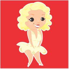 Adesivo Marilyn Monroe de @estudioagridoce | Colab55