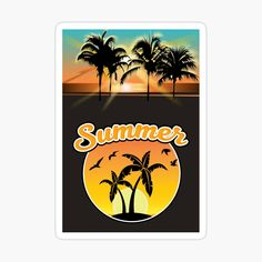 Warm Colors, Vibrant Colors, Sunset Art, Thing 1, Summer Sunset, Transparent Stickers, Large Prints, Top Artists, Sell Your Art