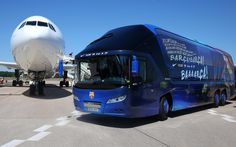 In this handout image provided by UEFA, the Barcelona team bus is pictured on the eve of the UEFA Champions League Final match against Juventus at Tegel Airport on June 5, 2015 in Berlin, Germany.