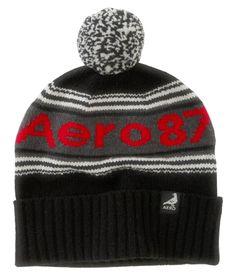 c5fd8f4cc81 Aero 87 Striped Pompom Hat - Aeropostale Pom Pom Hat