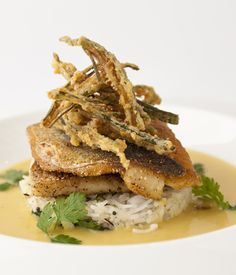 This grilled sea bass recipe from Vineet Bhatia has a wonderful mix of textures.