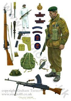 Las Cosicas del Panzer — bantarleton: British Commandos, Second World. British Royal Marines, British Army Uniform, British Uniforms, Ww2 Uniforms, British Armed Forces, British Soldier, Military Uniforms, Military Art, Military History