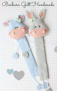 Osiołek i hipcio / Donkey & hippo Handmade Felt, Felt Diy, Felt Crafts, Handmade Crafts, Fabric Crafts, Sewing Crafts, Diy And Crafts, Sewing Projects, Crafts For Kids