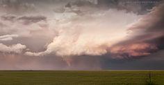 Boise City, OK---sun setting, last tornado of the day, May 31, 2010 by Matt Granz Photography