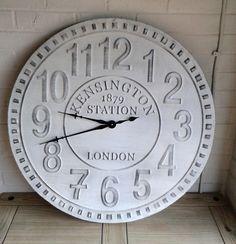 extra large shabbychic vintage style wall clock elsie rose homewares