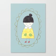 Little Dorothy Canvas Print by Unicornlette | Society6