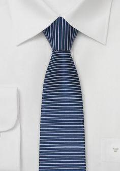 Jacquardgewebte Krawatte in nachtblau/silber