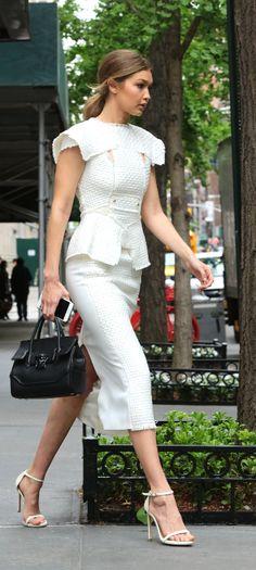 Gigi Hadid ♥ chic white dress