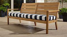Regatta Sofa with Sunbrella ® Cushion | Crate and Barrel