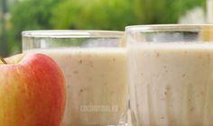 Bebida de plátano de manzana Heartburn, Frappe, Glass Of Milk, Cantaloupe, Panna Cotta, Fruit, Health, Ethnic Recipes, Food