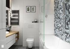 Projekt łazienki. Kraków Nowe Czyżyny - Mała łazienka w bloku, styl skandynawski - zdjęcie od PRØJEKTYW | Architektura Wnętrz & Design