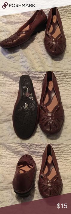 Brown clarks wedges size 8, no flaws, ships today 💕 Clarks Shoes Wedges