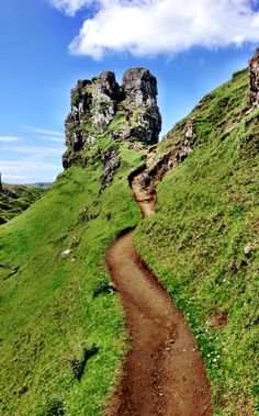Head to the Fairy Glen on the Isle of Skye and you might just find yourself believing in magic >> Love this path, it's so fairy-tale like!