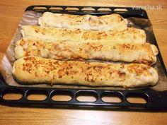 Plnené pizza štangle s cesnakovým dressingom (fotorecept) - recept Pitta, Zucchini, Menu, Vegetables, Php, Cooking, Food, Basket, Kitchens