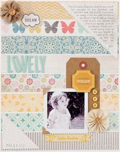 """Lovely"" by Teka, as seen in the Club CK Idea Galleries. #scrapbook #scrapbooking #creatingkeepsakes"