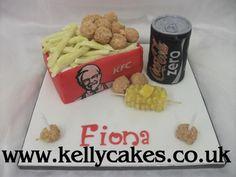 KFC Cake Kfc Cake, Birthday Cakes, Cake Ideas, Birthday Cake, Happy Birthday Cakes