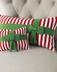 Garnet Hill holiday pillows...LOVE