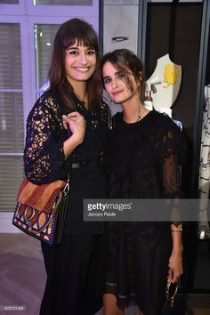 Loulou Robert (R) and Clara Luciani attend Guy Bourdin inaugural exhibition and unveiling of Maison Chloe as part of Paris Fashion Week at Maison Chloe on July 2, 2017 in Paris, France.