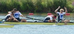 (L-R) Alex Gregory, Pete Reed, Tom James and Andrew Triggs Hodge have clinched gold in men's coxless four -day 8