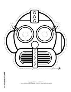 robot mask preschool printables pinterest face masks robot