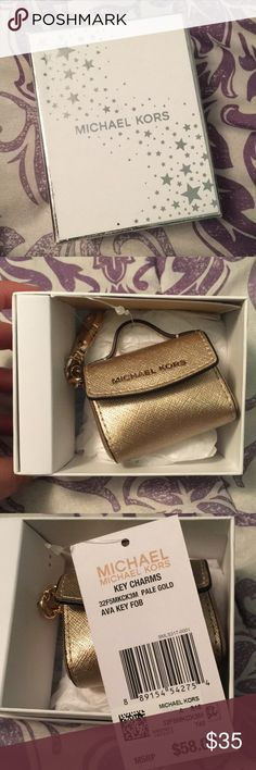Michael kors Keychain New Michael kors pale gold purse key charm. Comes with box. Michael Kors Accessories Key & Card Holders