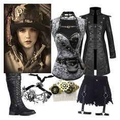 """""""steampunk hunter"""" by victoriashadow ❤ liked on Polyvore"""