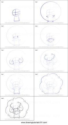 How to Draw Whimsicott from Pokemon printable step by step drawing sheet : DrawingTutorials101.com