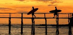 surfing sunset Photography