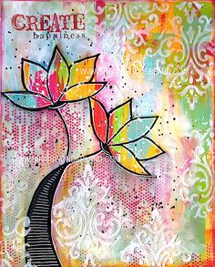 MIXED MEDIA TUTORIAL CREATE HAPPINESS – Nika in Wonderland Mixed Media Tutorials