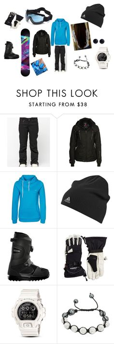 """""""snowboarding...??"""" by shadysqueen ❤ liked on Polyvore featuring Roxy, Lacoste, Icepeak, TWINTIP, ThirtyTwo, G-Shock, China Glaze, Shamballa Jewels and River Island"""