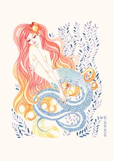 sibyllinesketchblog:  Finally took 5 minutes to scan the mermaid I did for Staedtler!