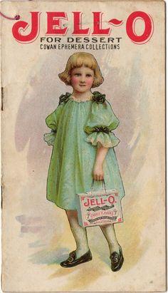 Jello For Dessert. Featuring The Jello Girl, Elizabeth King.  Cowan Ephemera Collections
