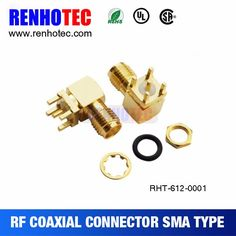 SMA 90 Degree female pcb mount connector