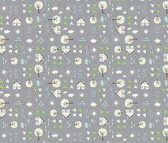 The_Cabin fabric by stacyiesthsu on Spoonflower - custom fabric