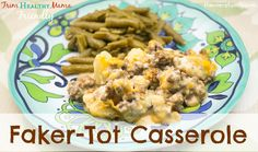 This amazing Fakertot Casserole is the perfect low-carb, full flavor version of the classic Tater Tot Casserole dish.