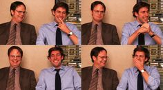 the officeI love it when any of them break and laugh but when John Krasinski does it's too adorable for words!