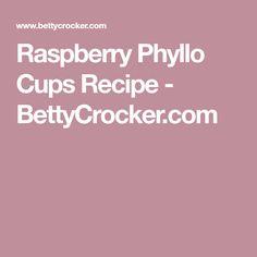 Raspberry Phyllo Cups Recipe - BettyCrocker.com