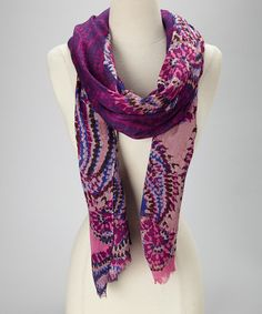 Take a look at this Mystical Grape Tribal Paisley Scarf by Collection 18 on #zulily today!
