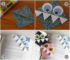 monster bookmarks for fids Diy For Kids, Crafts For Kids, Arts And Crafts, Monster Bookmark, Market Day Ideas, Monster Crafts, Fun Diy Crafts, Simple Crafts, Bookmarks Kids