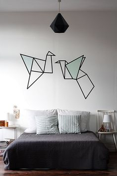 Easy Crafts That Describe the Attractive Strength of Washi Tape Diy Home Decor Bedroom, Diy Home Decor On A Budget, Luxury Home Decor, Decorating Your Home, Living Room Decor, Bedroom Furniture, Decorating Ideas, Dark Beauty, Washi Tape