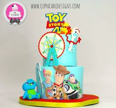 by Danielle Lechuga - Toy Story 4 cake! by Danielle Lechuga - Toy Story Birthday Cake, 4th Birthday Cakes, 4th Birthday Parties, Cumple Toy Story, Festa Toy Story, Toy Story Theme, Toy Story Party, Mickey Mouse Parties, Mickey Mouse Birthday