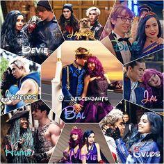 Disney Descendants Characters, Descendants Videos, Descendants Pictures, Disney Descendants 3, Descendants Cast, Punk Disney Princesses, Old Disney Channel, Disney Channel Movies, Disney Channel Stars