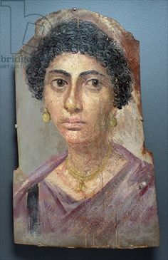 Fayum portrait of a young woman