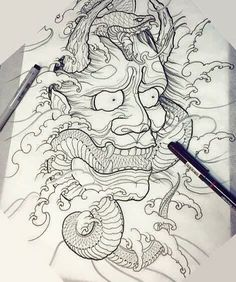derek turcotte paintings - Imagen relacionada You are in the right place about derek turcotte paintings Tattoo Design And Style - Japanese Tattoo Art, Japanese Tattoo Designs, Japanese Sleeve Tattoos, Japanese Art, Tattoo Sketches, Tattoo Drawings, Body Art Tattoos, Hand Tattoos, Hannya Tattoo