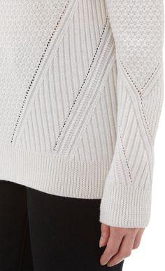 Mixed-Knit Oversize Sweater